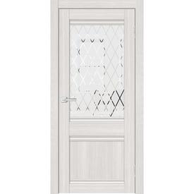 Полотно дверное остекленное Альфа 3 70х200 см, пвх, сандал светлый в Калининграде