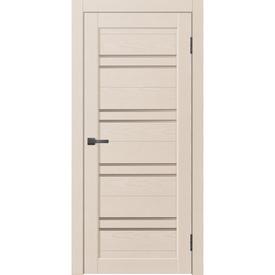 Полотно дверное остекленное L3 60х200 см, эко шпон, ясень латте в Калининграде
