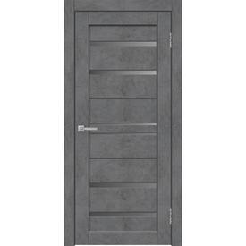 Полотно дверное остекленное Х23 80х200 см, экошпон, бетон графит в Калининграде