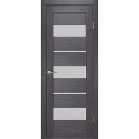 Полотно дверное остекленное Гамма 2 80х200 см, экошпон, дуб грей в Калининграде