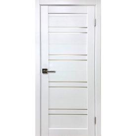 Полотно дверное остекленное Х1 60х200 см, экошпон, белый бланко в Калининграде