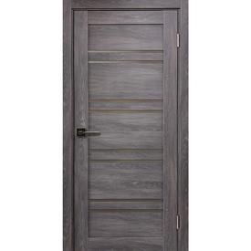 Полотно дверное остекленное Х1 80х200 см, экошпон, дуб шале в Калининграде