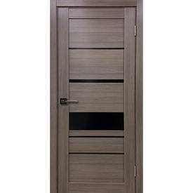 Полотно дверное остекленное Х4 80х200 см, экошпон, неаполь темный в Калининграде