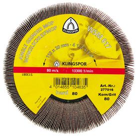 Круг лепестковый угловой WSM617 125*20мм Р80 Klingspor в Калининграде