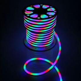Лента Гибкий Неон 8х16мм GLS-5050-80-10-220-IP67-RGB разноцветный (50м/рул) GENERAL в Калининграде