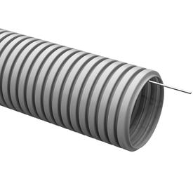 Труба гофрированная ПВХ D 32 мм с зондом серый (25м) ИЭК в Калининграде