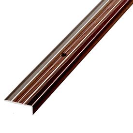 Профиль лестничный алюминиевый 24х10х1800мм Венге в Калининграде