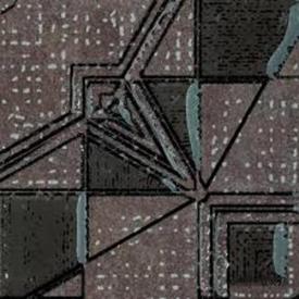 Бордюр напольный угловой Ленситайл графит 7,2х7,2 см Ceramika Paradyz