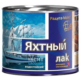 Лак яхтенный алкидно-уретановый матовый Радуга Малер 1,9л в Калининграде