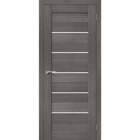 Полотно дверное остекленное Порта-22 60х200 см, эко шпон, Grey в Калининграде