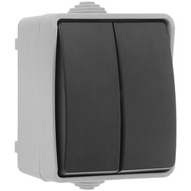 Выключатель нар. 2-кл 10А ФОРС IP54 серый/черный (10шт/уп) ИЭК в Калининграде