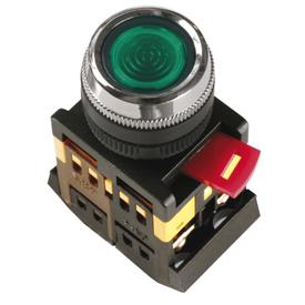 Кнопка управления ABLFS-22 диметр 22 мм неон/240В 1з+1р зеленая ИЭК в Калининграде