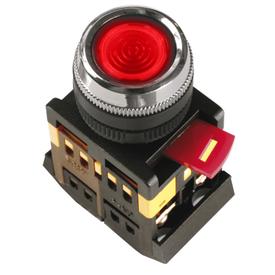Кнопка управления ABLFS-22 диметр 22 мм неон/240В 1з+1р красная ИЭК в Калининграде