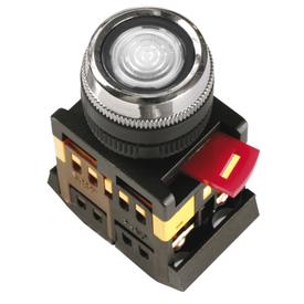 Кнопка управления ABLFS-22 диметр 22 мм неон/240В 1з+1р прозрачная ИЭК в Калининграде