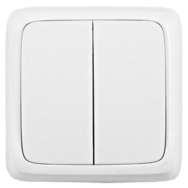 Выключатель нар. 2-кл 16А АЛЬФА IP20 белый (100шт/уп) ХЕГЕЛЬ в Калининграде
