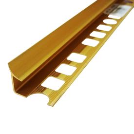 Профиль внутренний для плитки алюминиевый 9мм SALAG золото в Калининграде
